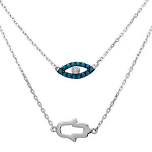 Jewelry - Sterling Silver 925  Hamsa Hand Necklace